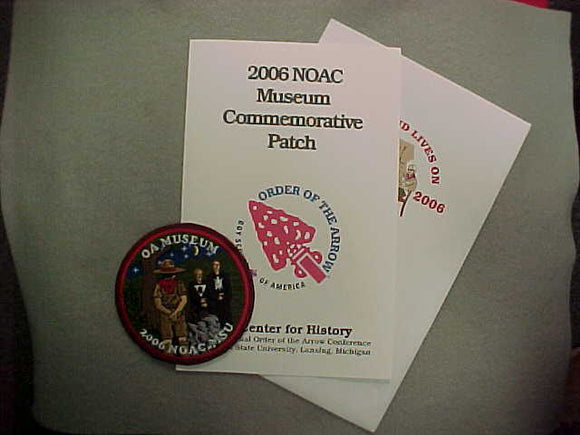 2006 NOAC COMMEMORATIVE PATCH IN ORIGINAL FOLDER AND ENVELOPE