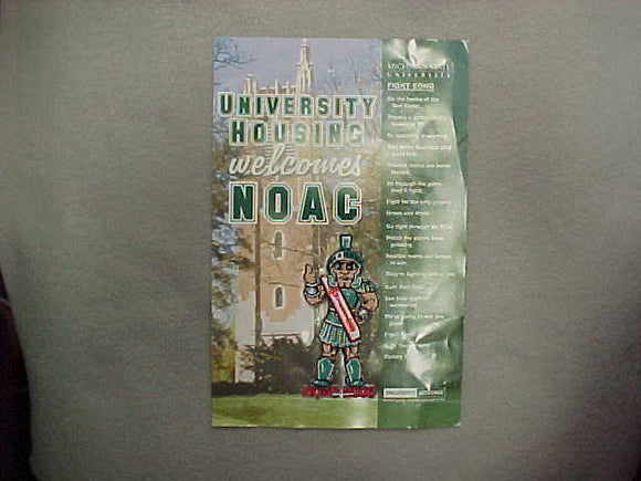 2006 NOAC MSU HOUSING SPARTY PATCH ON CARD