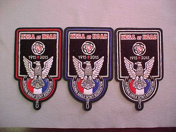 2015 NOAC NESA CHENILLE JACKET PATCHES, SET OF 3, #214 OF 250 MADE. NATIONAL EAGLE SCOUT ASSOCIATION, 4.25X7