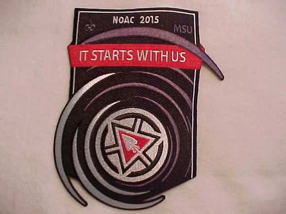 2015 NOAC JACKET PATCH, MSU