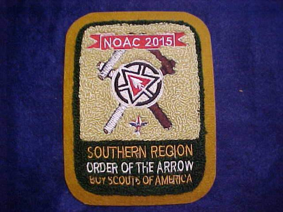 2015 NOAC JACKET PATCH, SOUTHERN REGION, CHENILLE