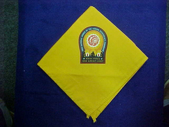 1992 NOAC NECKERCHIEF, SILKSCREENED