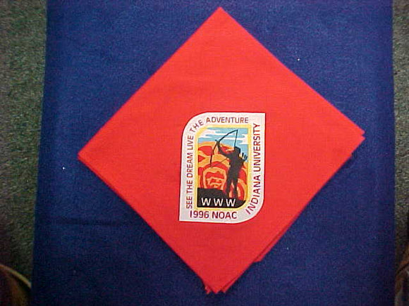 1996 NOAC NECKERCHIEF, SILKSCREENED