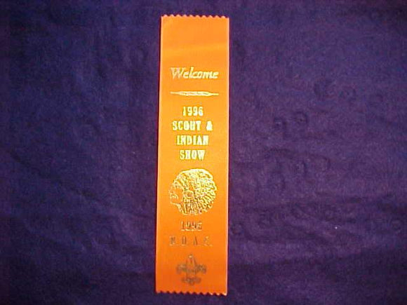 1996 NOAC RIBBON, SCOUT & INDIAN SHOW, ORANGE