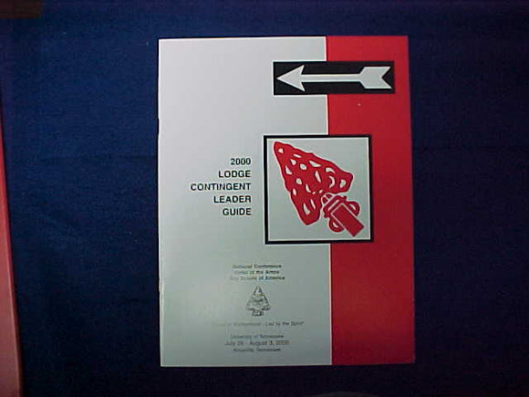 2000 NOAC LODGE CONTINGENT LEADER GUIDE