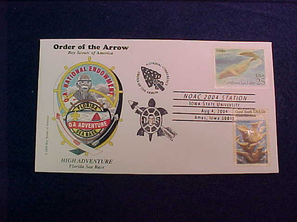 2004 NOAC HIGH ADVENTURE FLORIDA SEA BASE CACHET #2