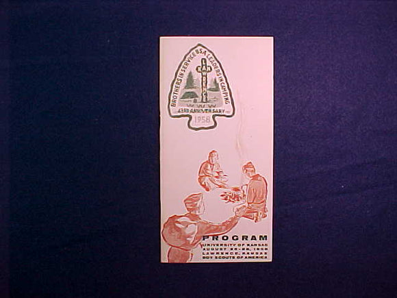 1958 NOAC PROGRAM BOOKLET