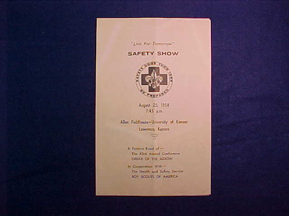 1958 NOAC SAFETY SHOW BULLETIN