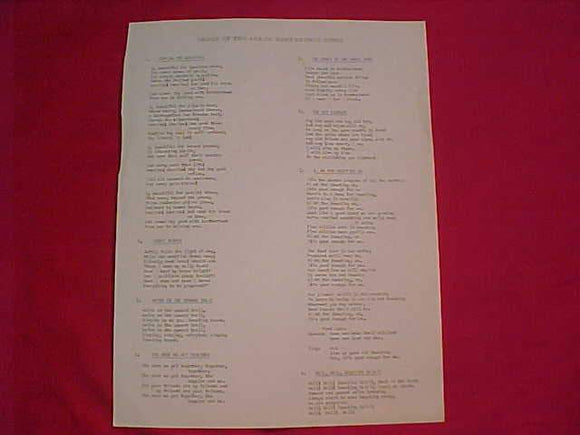 1961 NOAC SONG LYRICS