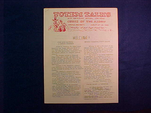 1965 NOAC TOTEM TALKS BULLETIN #1