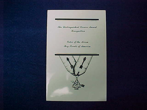 1986 NOAC DISTINGUISHED SERVICE AWARD RECOGNITION BULLETIN