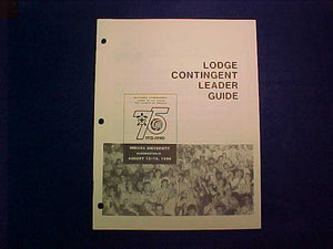 1990 NOAC LODGE CONTINGENT LEADER GUIDE BOOKLET