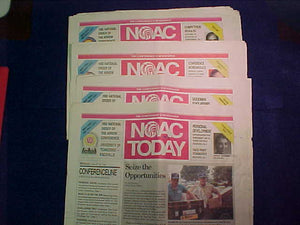 1992 NOAC TODAY NEWSPAPERS, COMPLETE SET OF 4