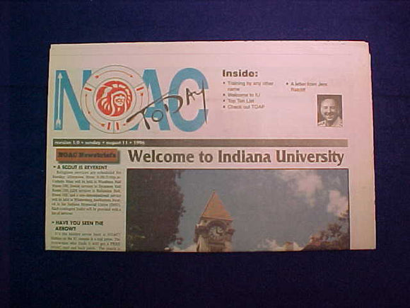 1996 NOAC TODAY NEWSPAPER 8/11/96