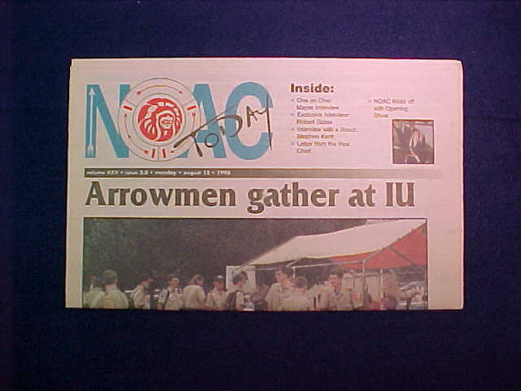1996 NOAC TODAY NEWSPAPER 8/12/96