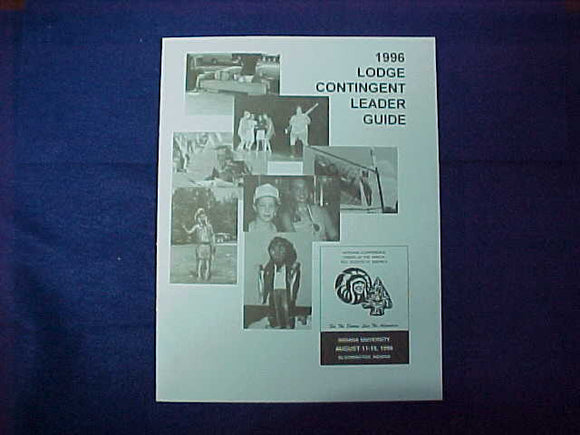 1996 NOAC LODGE CONTINGENT LEADER GUIDE