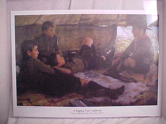 HIGH QUALITY PRINT OF U.K. SCOUT PAINTING,