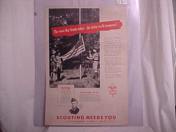 WORLD WAR II POSTER, TOLEDO, OHIO, BSA, 25 X 17