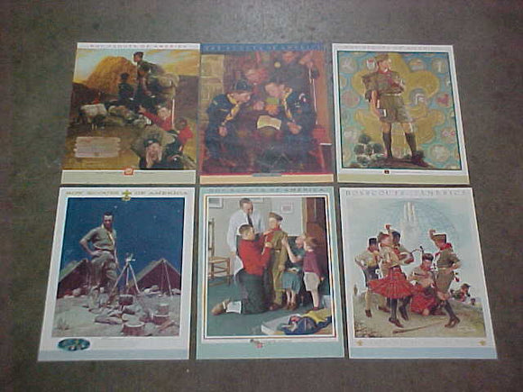 NORMAN ROCKWELL POSTERS, SET OF 6 INCLUDES: