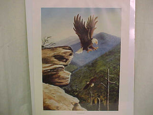 "PRINT ""FROM INDIAN FORT"", SIGNED BY J. CARLTON LUCAS, 22X17"""