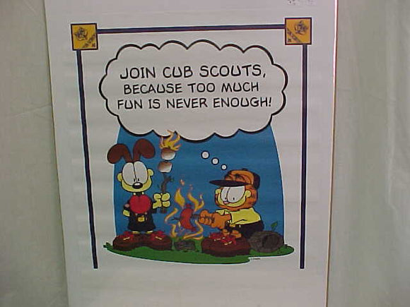 CUB SCOUT POSTER, GARFIELD & OTIE, 22X17