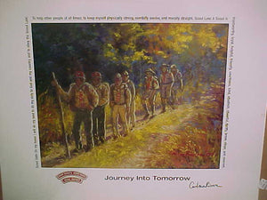 "PRINT ""JOURNEY INTO TOMORROW"", SIGNED BY RIVERA"