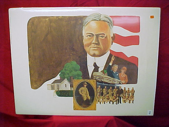 poster of President Calvin Coolidge & wife w/ boy scouts