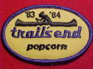 TRAIL'S END POPCORN PATCH, 1983-84
