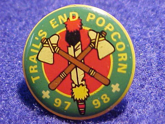 TRAIL'S END POPCORN PIN, 1997-98