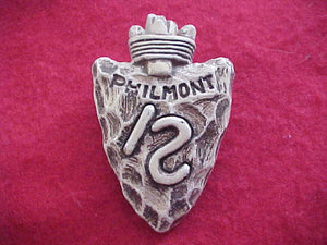PHILMONT N/C SLIDE, ARROWHEAD WITH \S BRAND, PLASTER, CHUNKY SURFACE
