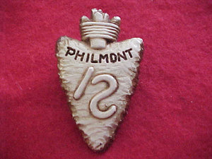 PHILMONT N/C SLIDE, ARROWHEAD WITH \S BRAND, PLASTER, SMOOTH SURFACE