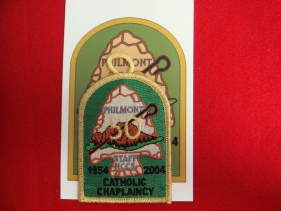 Philmont 2004 Catholic Chaplain Patch + Card