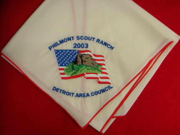 Philmont 2003 Detroit Area Contingent Neckerchief