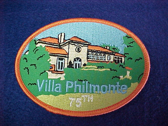 Philmont 75th Villa Philmonte, 3 x4' oval patch