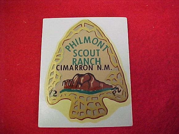 Philmont Water Type Decal. 1960's issue. 2.5 x 3.25
