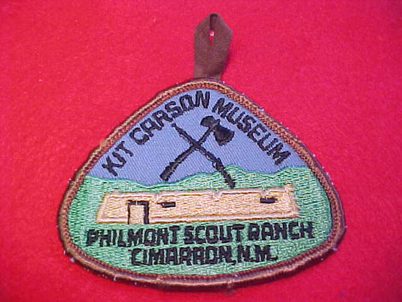 philmont kit carson museum patch, cloth back