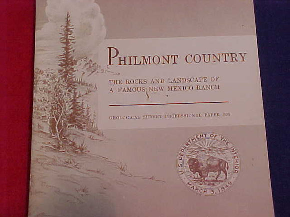 philmont geologic survey, u.s. dept. of the interior, book w/folding color maps in rear pocket