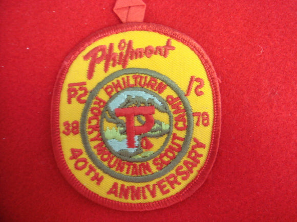 Philmont 1938-78 Patch
