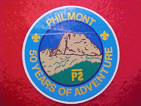 PHILMONT 50 YEARS STICKER, 1988