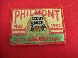 Philmont 1941-1981 Patch