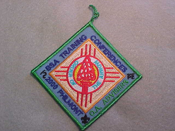 PHILMONT 2000 OA ADVISERS TRAINING CONFERENCE PATCH