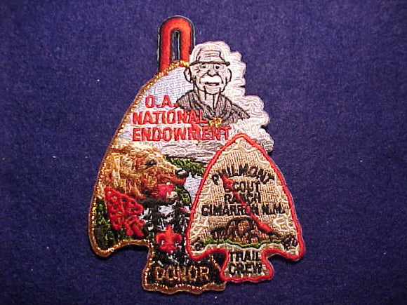 PHILMONT PATCH, SCOUT RANCH TRAIL CREW, OA NATIONAL ENDOWMENT DONOR, BRONZE BDR.