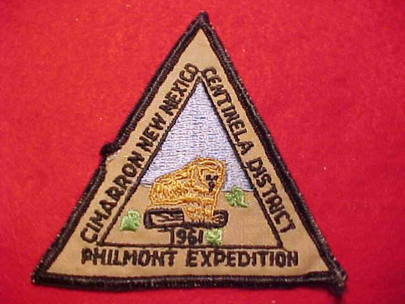 PHILMONT PATCH, 1961 EXPEDITION, CENTINELA DSITRICT/CRESCENT BAY AREA C., USED