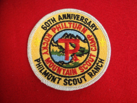 Philmont 1998 60th Anniversary Silver Mylar Border
