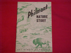 "PHILMONT BOOK, ""NATURE STORY"", 1960, FIRST EDITION, 34 PAGES, PAPERBACK"