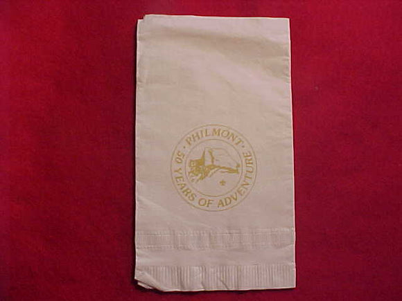 PHILMONT PAPER NAPKINS (QTY. 3), 1988, 50 YEARS OF ADVENTURE