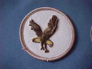 FLYING EAGLE, TAN BORDER, DARK BROWN EAGLE, YELLOW TAIL