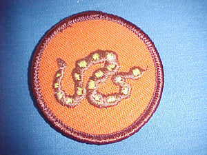 RATTLESNAKE, MULTICOLOR, ORANGE TWILL