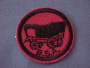 COVERED WAGON, FELT, BLACK & WHITE BACK THREADS