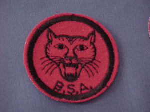 BOBCAT, FELT, BLACK & WHITE BACK THREADS